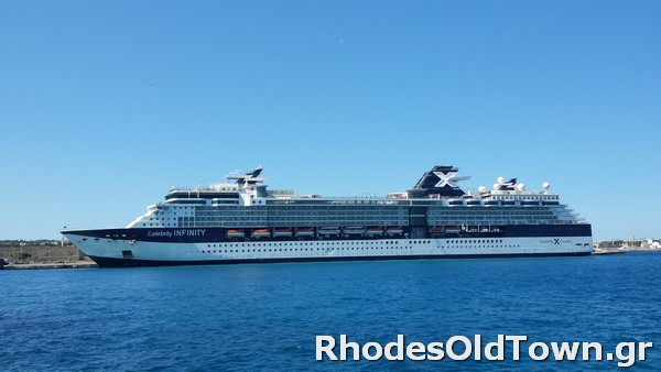 Celebrity Infinity Cruise Ship at Rhodes Port