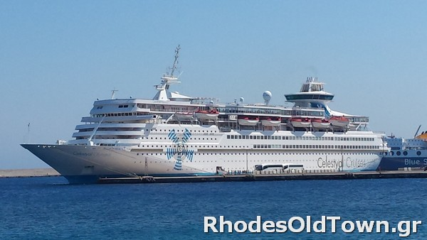 Celestyal Olympia Cruise Ship in Rhodes Port