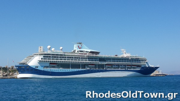 Marella Discovery Cruise Ship at Rhodes Port