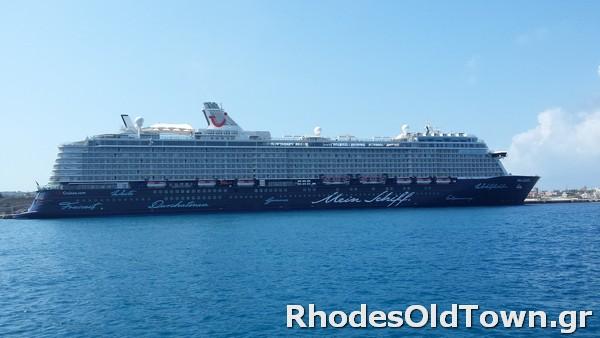 Cruise Ship Mein Schiff 6 at Rhodes Port