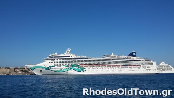 Cruise Ship Norwegian Jade at Rhodes Port