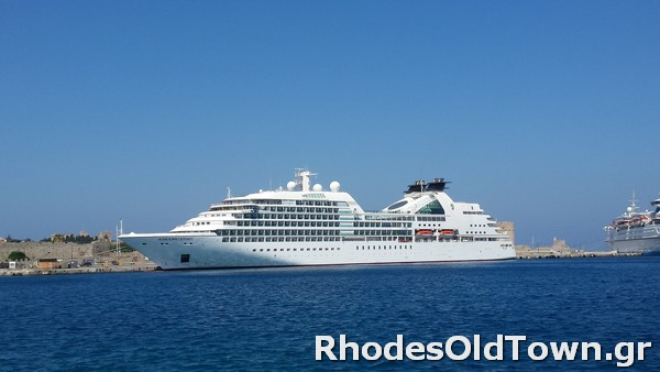 Seabourn Odyssey Cruise Ship in Rhodes Port