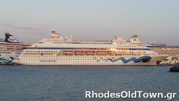 Cruise Ship AIDAcara at Rhodes Port