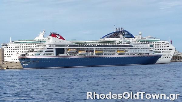 Cruise Ship Braemar at Rhodes Port