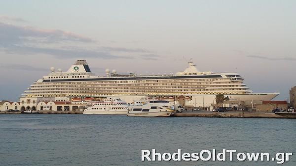 Cruise Ship Crystal Serenity at Rhodes Port