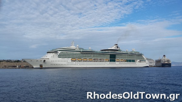 Jewel of the Seas Cruise Ship at Rhodes Port