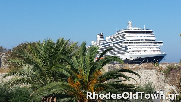 Cruise Ship Koningsdam at Rhodes Port