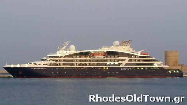 Cruise Ship Le Bougainville at Rhodes Port