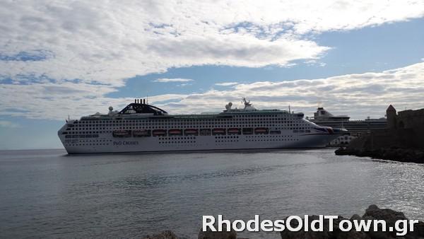 Cruise Ship Oceana at Rhodes Port