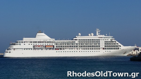 Cruise Ship Silver Shadow at Rhodes Port
