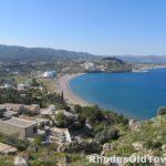 Panoramisch landschap, hotels, villa's en strand