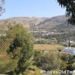 Panoramisch landschap, hotels en villa's