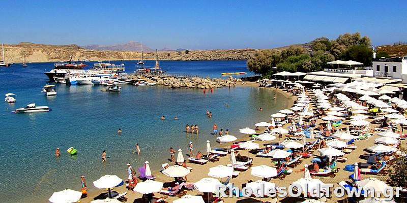 Skala Port and beach Lindos