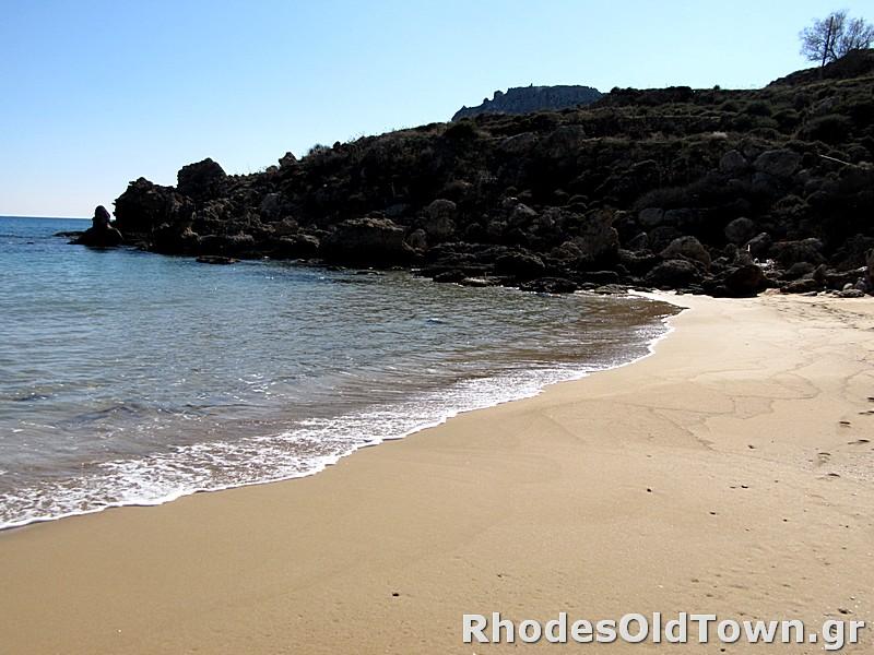 Rechte Seite des Strandes